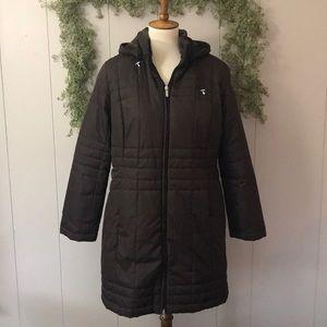 LANDS END Insulated Fleece Lined Parka Coat M